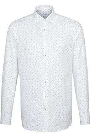 Seidensticker Herren Strukturiertes Hemd mit hohem Tragekomfort und Kent-Kragen – Passform Regular Fit – Langarm – 100% Baumwolle Businesshemd
