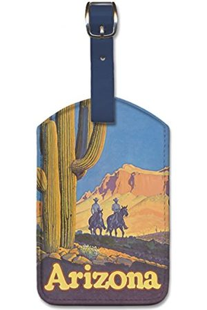 Pacifica Island Art Pacifica Island Art Leatherette Luggage Baggage Tag - Arizona by Don Perceval