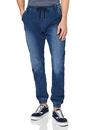 Urban classics Herren Knitted Denim Jogpants Sporthose