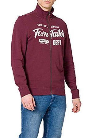 TOM TAILOR Herren Aufdruck Sweatshirt, 11333-Dusty Wildberry Red