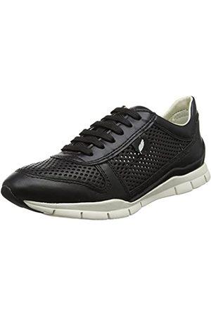 Geox Damen D Sukie F Sneaker, (Black)