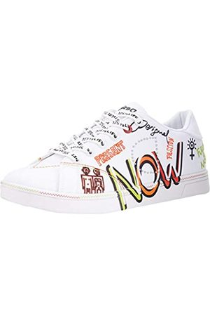 Desigual Damen Shoes_Cosmic_Text Sneakers Woman, White