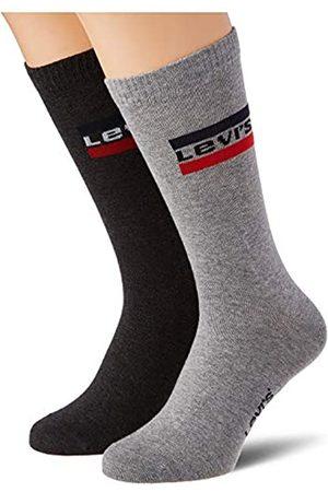 Levi's Unisex-Adult Sportswear Logo Regular Cut (2 Pack) Socks