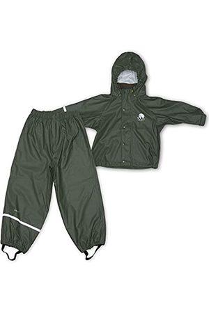 CeLaVi Celavi Kinder Jungen Regen Anzug, Jacke und Hose, Alter 6-7 Jahre, Größe: 120, Farbe: Grün (Army)
