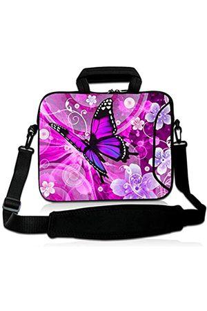 Violet Mist Laptop-Schutzhülle, Neopren, wasserdicht, mit verstellbarem Schultergurt, für Damen und Herren, 28,9 cm, 33,8 cm, 33,8 cm