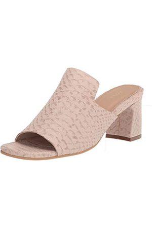 KAANAS Women's Moscow Snake-Embossed Loafer Mule Heeled Sandal