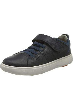 Geox Geox Boys J NEBCUP Boy B Sneaker, Navy/ORANGE