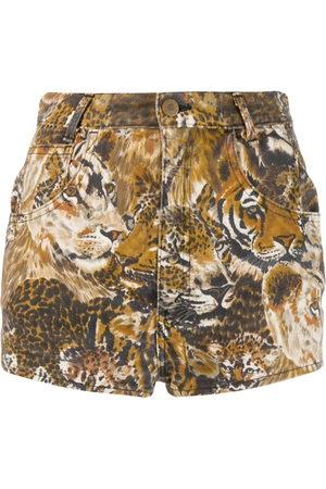Kenzo Damen Shorts - Shorts mit Wildkatzen-Print