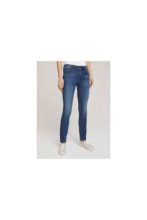 TOM TAILOR Damen Slim - Alexa Slim Jeans, Damen, Used Dark Stone Blue Denim, Größe: 32/32