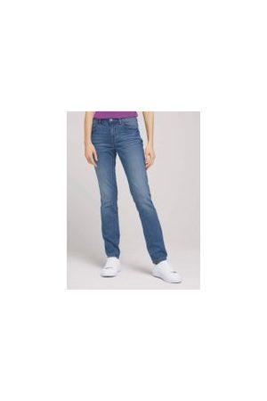 TOM TAILOR Damen Slim - Alexa Slim Jeans, Damen, Clean Light Stone Blue Denim, Größe: 32/32