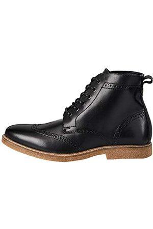 FIND Find. Morrison Stiefel Herren aus Nappaleder mit Brogue-Design , Schwarz (Smart Black)