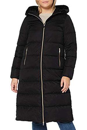 Geox Womens W TABELYA Faux Fur Coat, Black