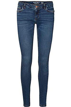 Noisy May Damen Nmeve Lw Pocket Piping Vi877 Noos Slim Jeans, Dark Blue Denim