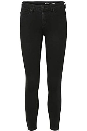Noisy May Damen Nmkimmy Nw Ankle Zip Black Noos Skinny Jeans, Black