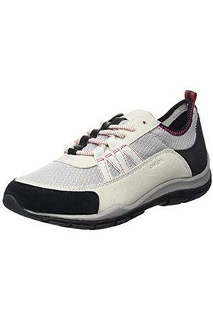 Geox Geox Womens D KANDER A Sneaker, LT Grey/Off White