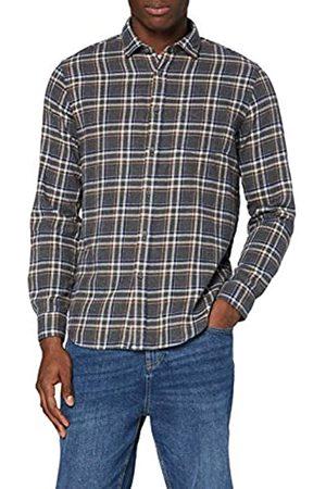 MERAKI Amazon-Marke: MERAKI Herren Langärmeliges Baumwollhemd, L
