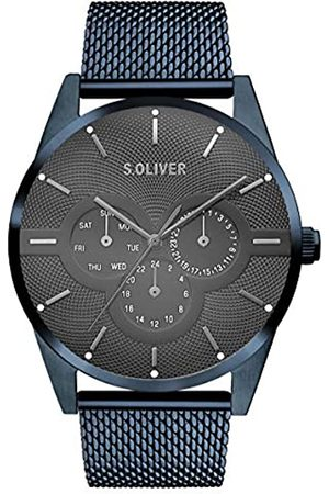 s.Oliver S.Oliver Herren Multi Zifferblatt Quarz Armbanduhr mit Edelstahlarmband SO-3573-MM