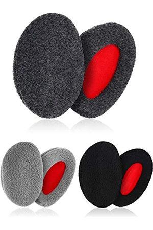 SATINIOR 3 Paar Bandlose Ohrenschützer Weiche Winte Ohrenwärmer für Männer und Frauen bei Kaltem Wetter (Groß)