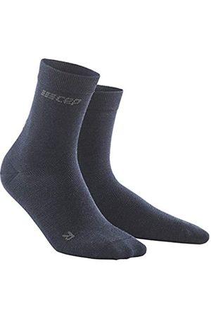 CEP – ALLDAY RECOVERY COMPRESSION MID CUT SOCKS für Herren | Merino Socken mit Kompression in dunkelblau | Größe III