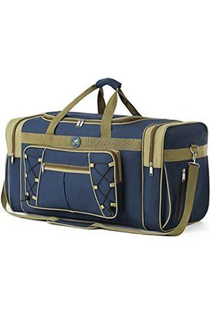 Spring Country Reisetasche für Frauen & Männer Faltbare Weekender-Reisetasche 65 cm Leichtes Oxford-Tuch Extra großes Sportgepäck Riesige Wasser- und Reißfestigkeit (Blau)