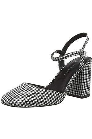 New Look Damen Wide Foot Robin Riemchenpumps, (Black Pattern 9)