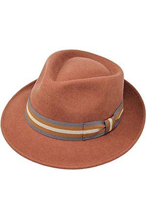 Borges & Scott B&S Premium Doyle - Teardrop Fedora Hut - 100% Wollfilz - perfekt zum Reisen - was-serabweisend - Unisex - 58cm