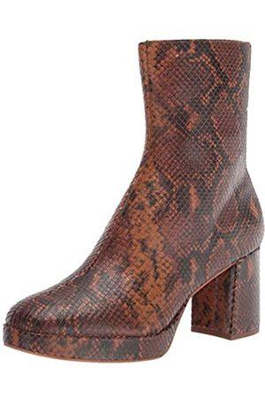 Dolce Vita Damen Eden Mode-Stiefel, Cognac Schlangen-Print Leder