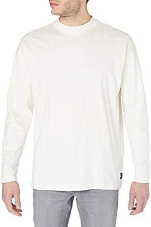 TOM TAILOR Herren Stehkragen T-Shirt, 12906-Wool White