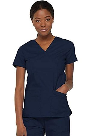 Dickies Damen Oberbekleidung - Damen EDS Signature Scrubs Jr. Fit Mock Wrap Top - - XXX-Large Mehr