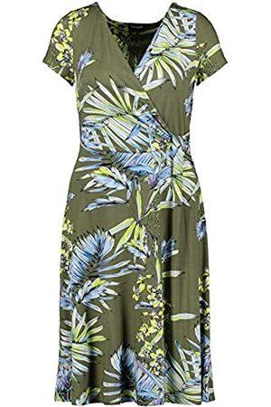 Taifun Damen Jerseykleid mit exotischem Floral-Print