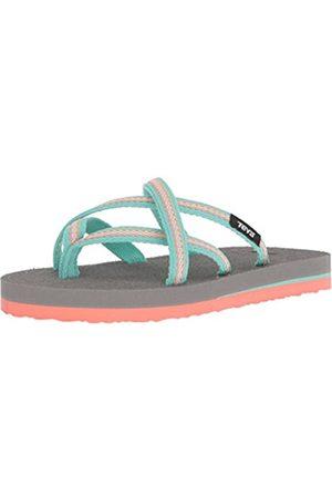 Teva Girls' K Olowahu Flip-Flop, lindi sea glass/coral