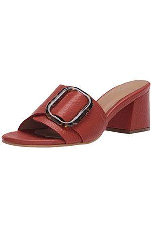 KAANAS Women's COMINO Buckle Strap Block Low Heeled Sandal