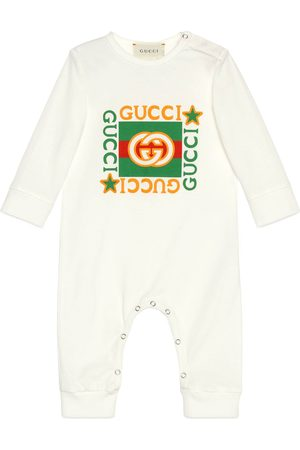 Gucci Baby Jumpsuits - Baby-Einteiler aus Baumwolle mit Vintage-Logo