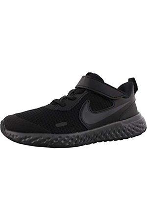 Nike Nike Revolution 5 (PSV) Running Shoe, Black/Black-Anthracite