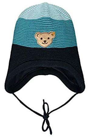 Steiff Baby-Jungen mit süßer Teddybärapplikation Mütze, Navy