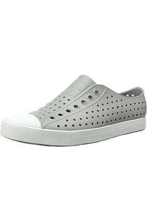 Native Unisex Jefferson Fashion Sneaker, Pigeon Grey/Shell White