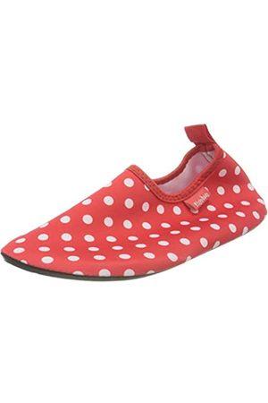 Playshoes Playshoes Unisex-Kinder Badeslipper Aqua-schuhe Punkte (rot)