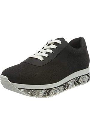 Desigual Damen Wedge Sneakers Woman, Black