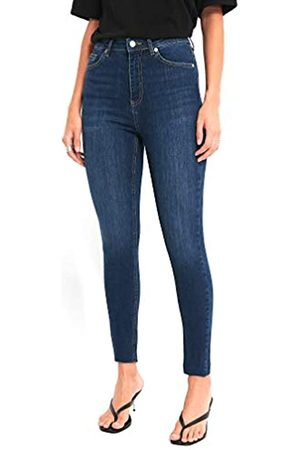 NA-KD Damen Skinny High Waist Raw Hem Jeans
