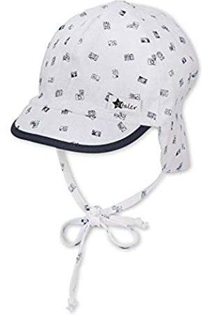Sterntaler Sterntaler Baby-Jungen m 1602131 Schirmmütze mit Nackenschutz, Weiss