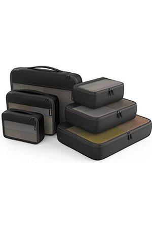 Easyfun Packwürfel Organizer Taschen für Kleiderschrank oder Koffer Kleidung Aufbewahrungstasche für Zuhause oder Reisen Packwürfel 6 Set für Gepäck Koffer
