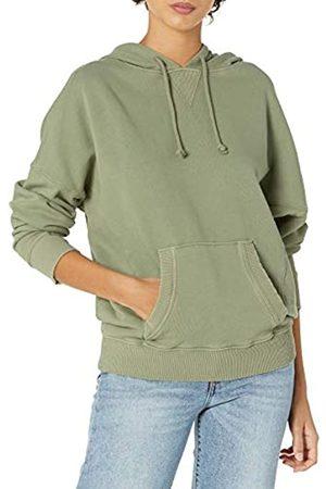Lucky Brand Damen Sweatshirts - Damen Long Sleeve Side Seam Relaxed Hoodie Sweatshirt Kapuzenpullover
