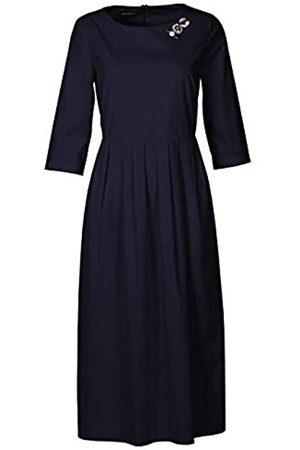 Apart APART, schönes Damen Kleid aus Einer leichten Sommer-Baumwollware, am Ausschnitt Oben Links mit einem Schmuck-Elemant verziert