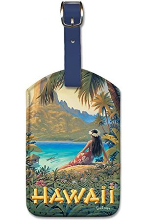 Pacifica Island Art Pacifica Island Art Leatherette Luggage Baggage Tag - Hawaii by Kerne Erickson
