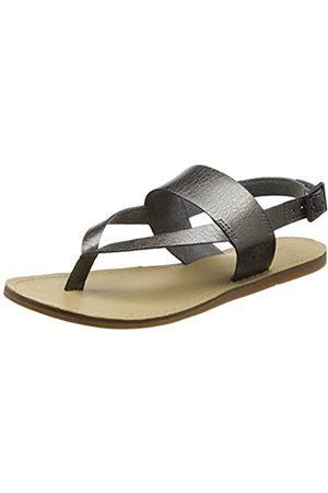 Timberland Damen Carolista Ankle ThongGunmetal Metallic Knöchelriemchen Sandalen mit Keilabsatz Grün (Gunmetal