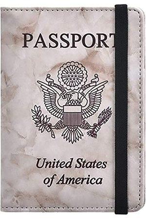 HerriaT HERRIAT Marmorleder-Schutzhülle für Reisepass, RFID-blockierend