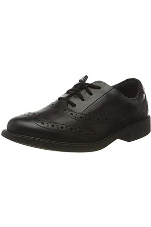 Clarks Clarks Jungen Scala Brogue K Uniform-Schuh, Schwarz (Black Leather)