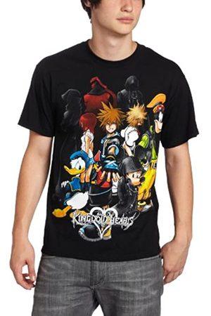 Disney Herren T-Shirt Kingdom Hearts Hearts Group - - Klein