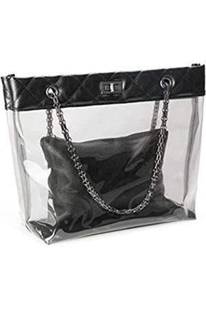 Micom Candy Color Gesteppter Kettenriemen transparente Handtaschen Handtaschen Handtaschen Handtaschen für Frauen (Schwarz) - 4331351167