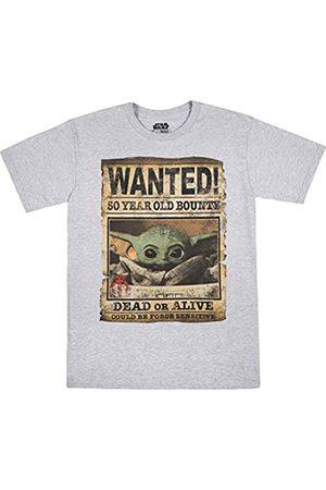 STAR WARS Herren SW Wanted, Baby Yoda, Kind, Mandalorian, Fahndungsposter, T-Shirt